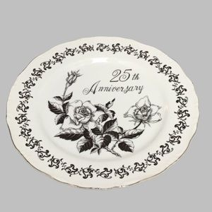 ROYAL CROWN ANNIVERSARY PLATE 25TH